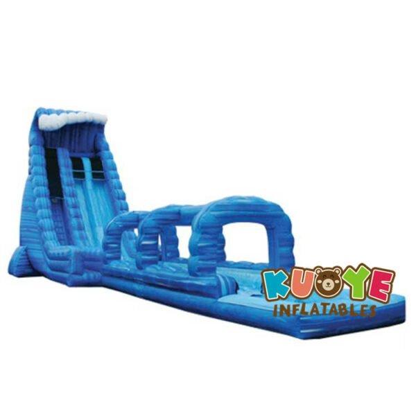 WS025 27ft Blue Crush Double Lane Water Slide With Slip-N-Slide