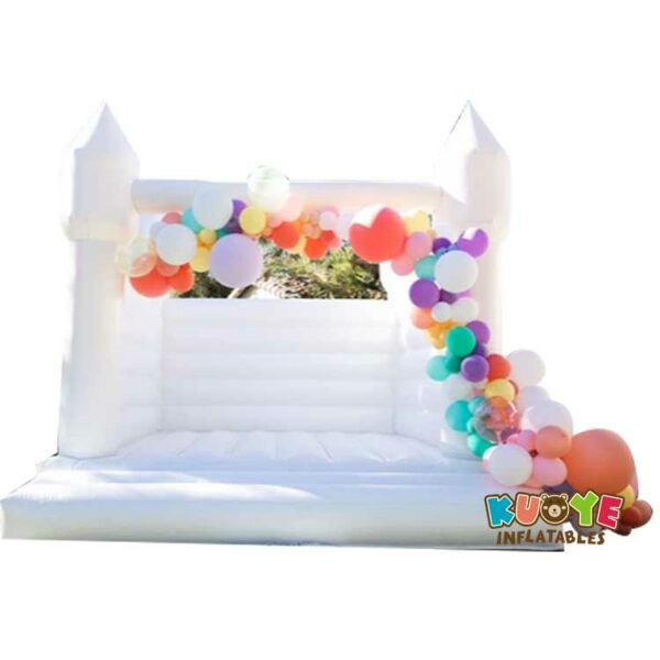 BH063 White Wedding Moon Bounce House