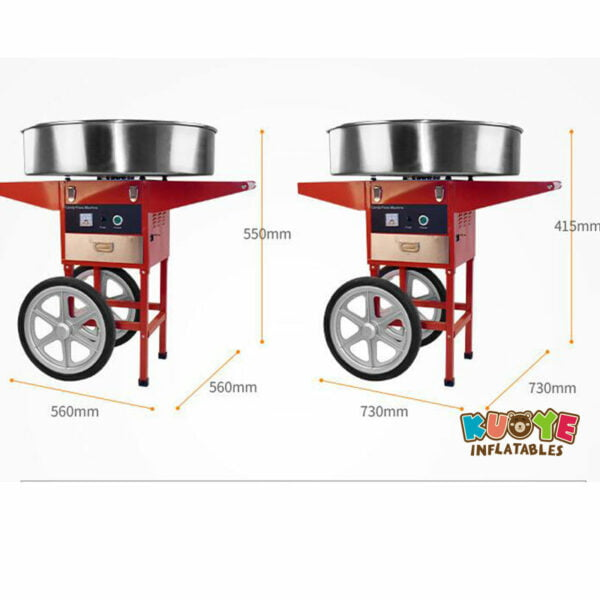 PM003 Commercial Electric Cotton Candy Machine With Cart 3