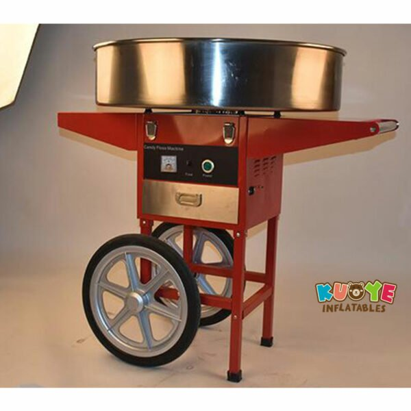 PM003 Commercial Electric Cotton Candy Machine With Cart 4