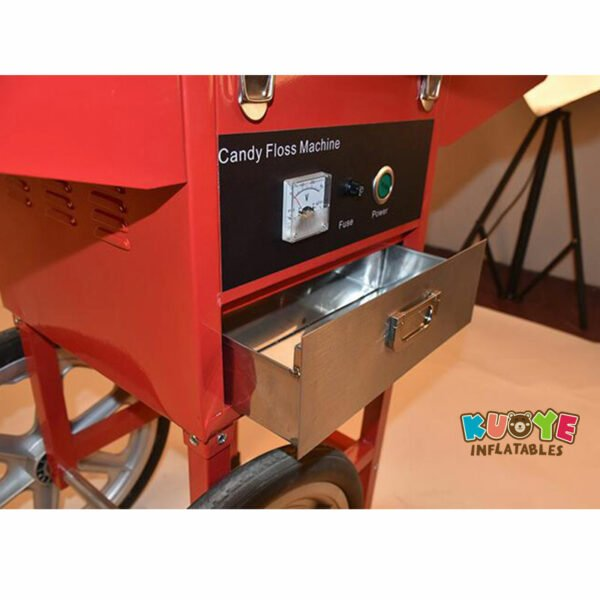 PM003 Commercial Electric Cotton Candy Machine With Cart 5