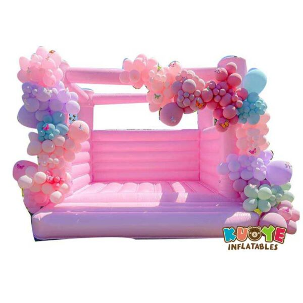 BH083  Pink Wedding Bounce Castle