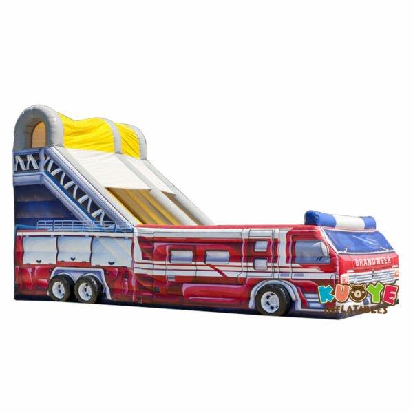 SL022 Inflatable Giant Fire Truck Slide