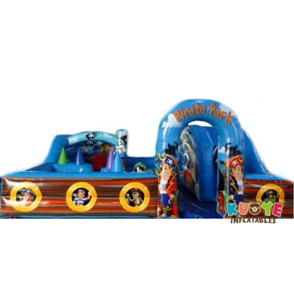 CB0105 18ft x 18ft Pirate Toddler Play Park Inflatable Ball Pit