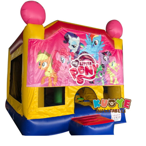 BH015 13′ x 13′ My Little Pony Banner Jumping Castle with Slide