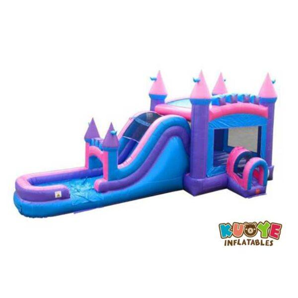 CB086 Mega Modern Rainbow Water Slide Bounce House Combo