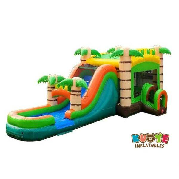 CB087 Mega Tropical Water Slide Bounce House Combo