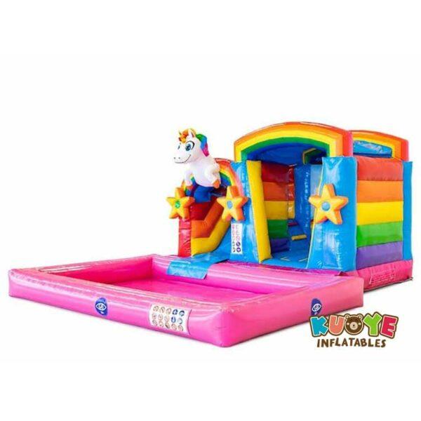 CB096 Mini Splash Bounce Unicorn Bounce House