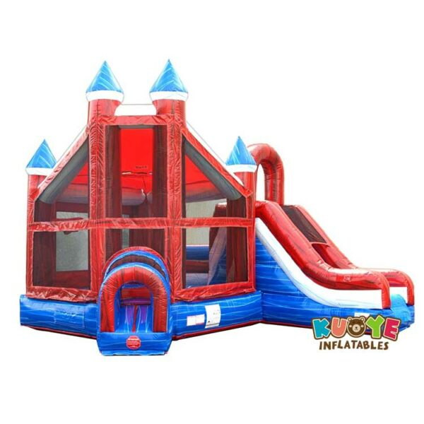 CB094  Marble Deluxe Inflatable Castle Bounce House Slide Combo