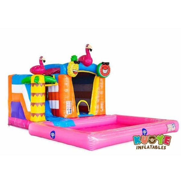 CB099 Mini Splash Bounce Flamingo Bounce House
