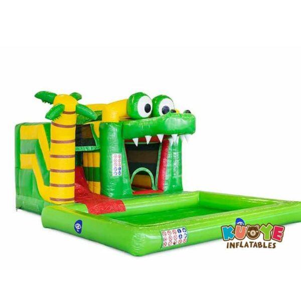 CB0100 Mini Splash Bounce Crocodile Bounce House