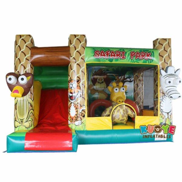 CB1806 Safari Park Bouncy Castle with Slide