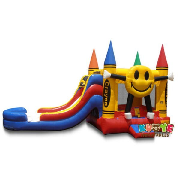 CB1808 Happy Crayon Bouncy Castle with Slide