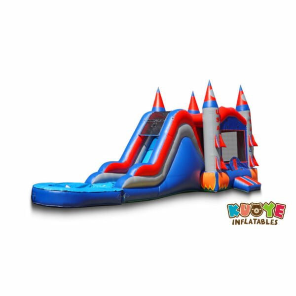 CB1809 Inflatable Commercial Wet Dry Bounce House Combo