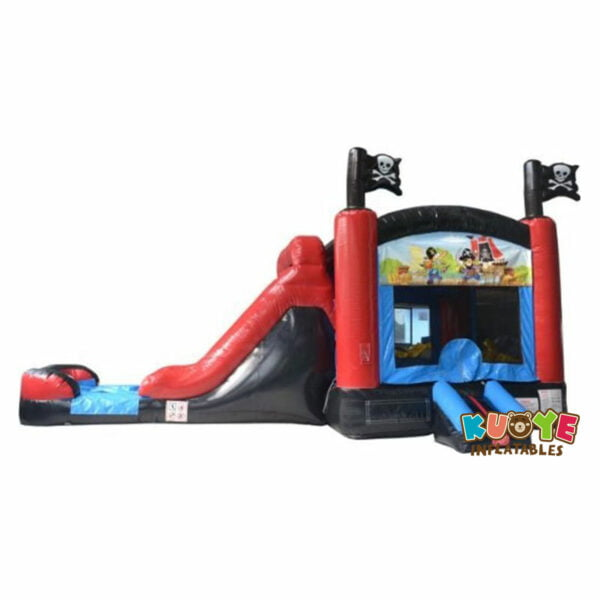 CB1812 Pirate Inflatable Combo Moonwalk with Pool