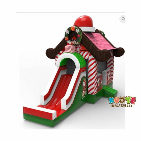 CB1818 Christmas Holiday Bouncy Slide Combo