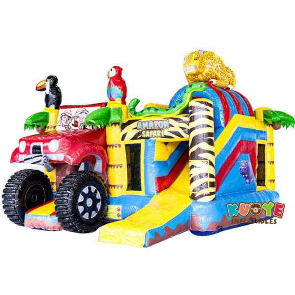 CB006 Multiplay Safari Combo Bouncy Castle