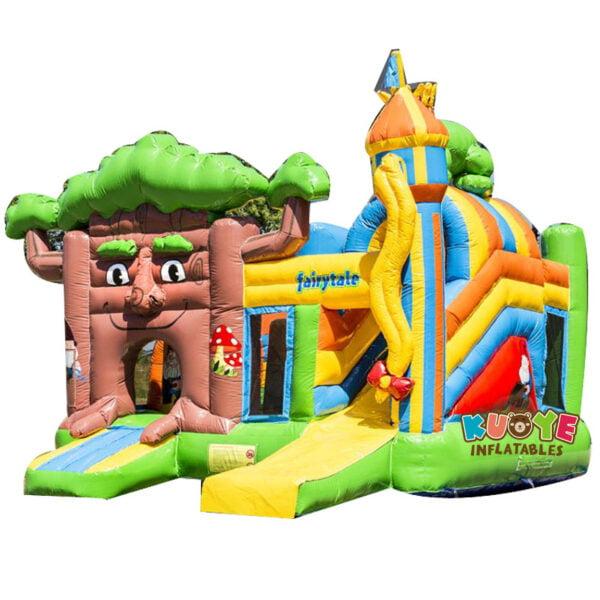 CB004 Fairytale Tree Bouncy Castle with Slide