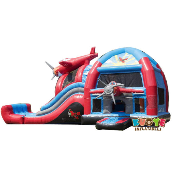 CB010 Large Air plane Bouncy Castle with Slide