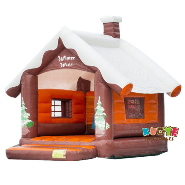 BH026 Cabin Bounce Castle with Snow