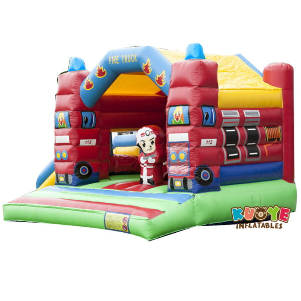 BH028 Fire Truck Bounce Castle