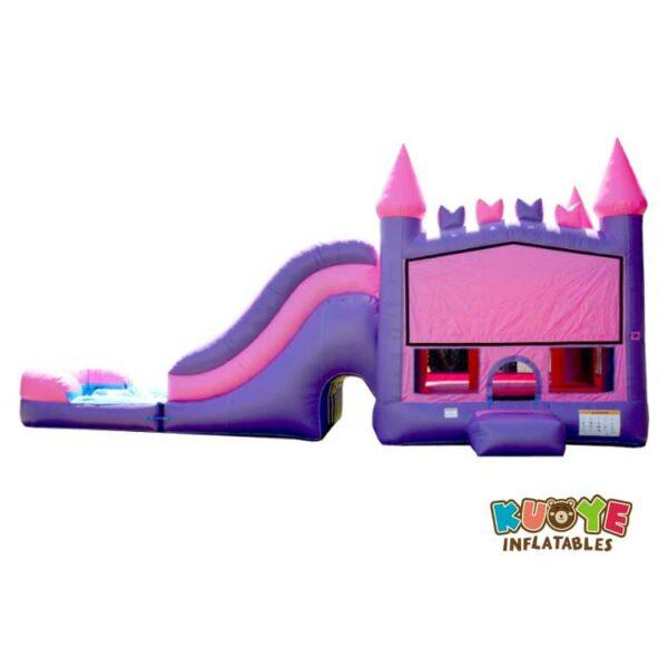CB045 Princess Purple Wet Dry Combo Bounce House Moonwalk Jumpers