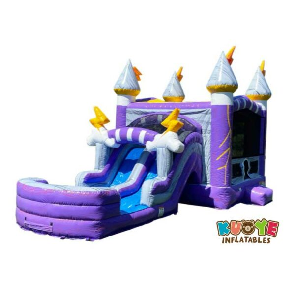CB046 Thunder Dual Lane Inflatable Bouncer With Slide