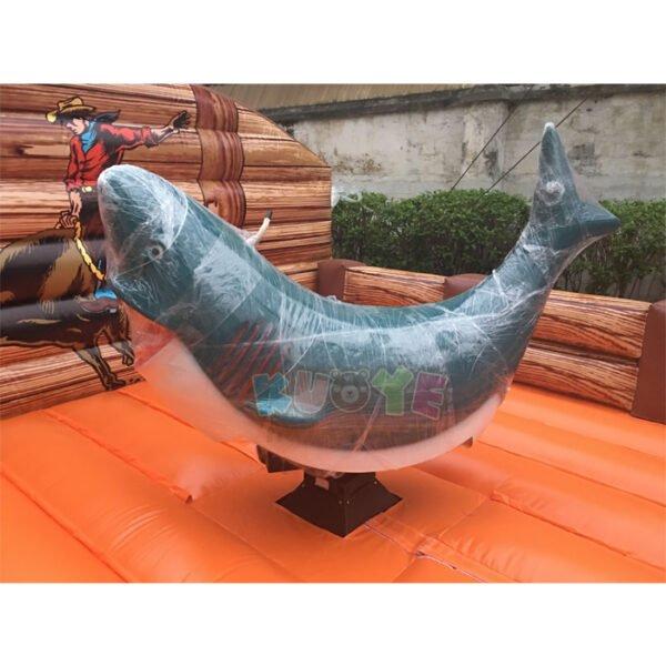 SP1848 Inflatable Mechanical Shark Rodeo Simulator Ride 5