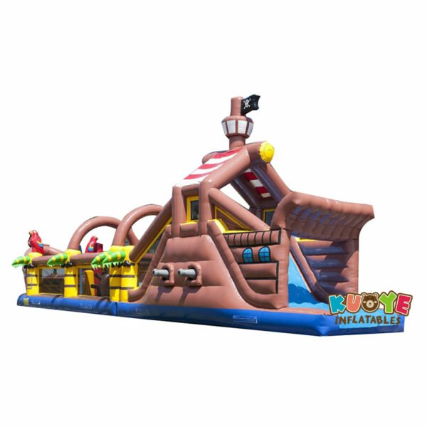 OC1834 17.3m Pirate Obstacle Course Parcours Bateau Pirate Structure Gonflable