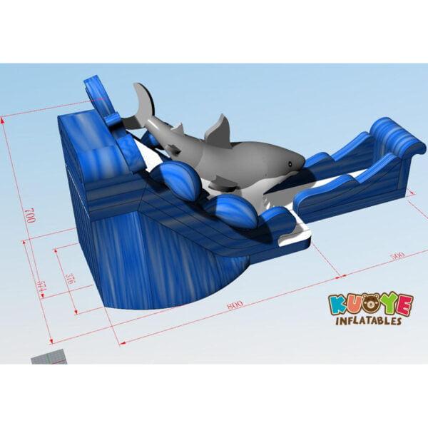 WS006 Giant Shark Water Slide 2