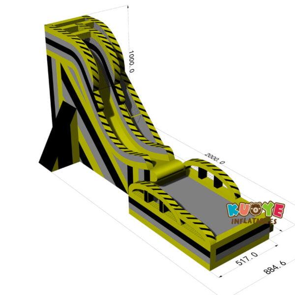 WS007 Inflatable Drop Kick Water Slide 2