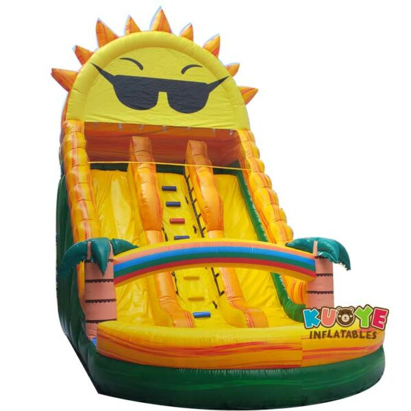SL042 Inflatable Marble Sun Slide with Dual Lines