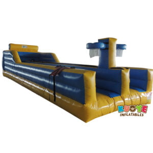 SP1843 Custom Two Lane Bungee Run Inflatable with Basketball Hoop
