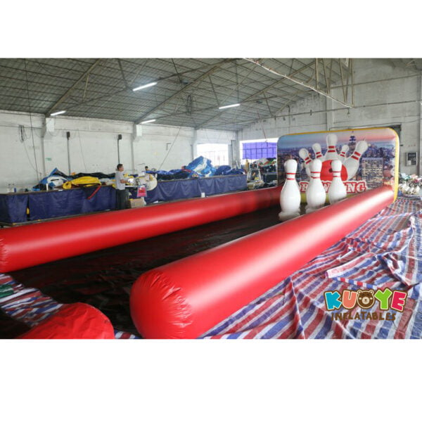 SP024 Hot Game Air Tight Inflatable Bowling Alley Game for Kids and Adults 3