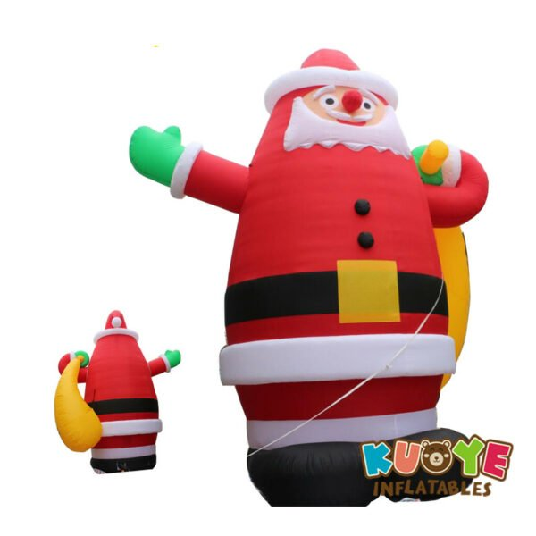 Xmas006 8m Amazing Inflatable Giant Christmas Santa Claus with Gift 3