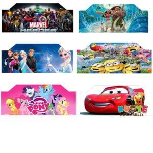 B001 Art Panels for Bounce House Frozen/Marvel Heroes/Moana/Little Pony/Minion 2