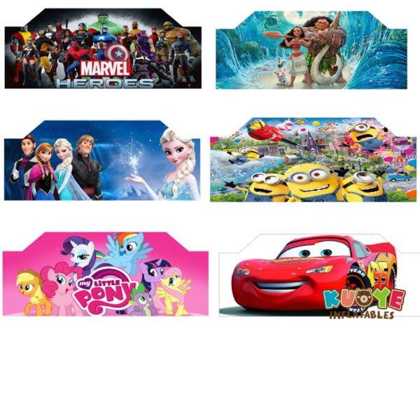 B001 Art Panels for Bounce House Frozen/Marvel Heroes/Moana/Little Pony/Minion