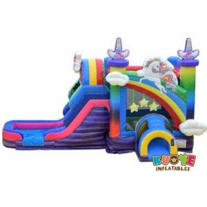 CB084 Unicorn Bounce House with Slide