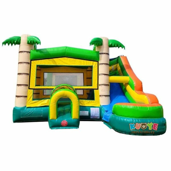 CB081 Modular Tropical Water Slide Bounce House Combo with Blower
