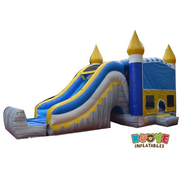 CB061 Commercial Grade Inflatable Combo Skyline Titan Bounce House with Slide