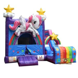CB063 3D Unicorn Bounce House Combo
