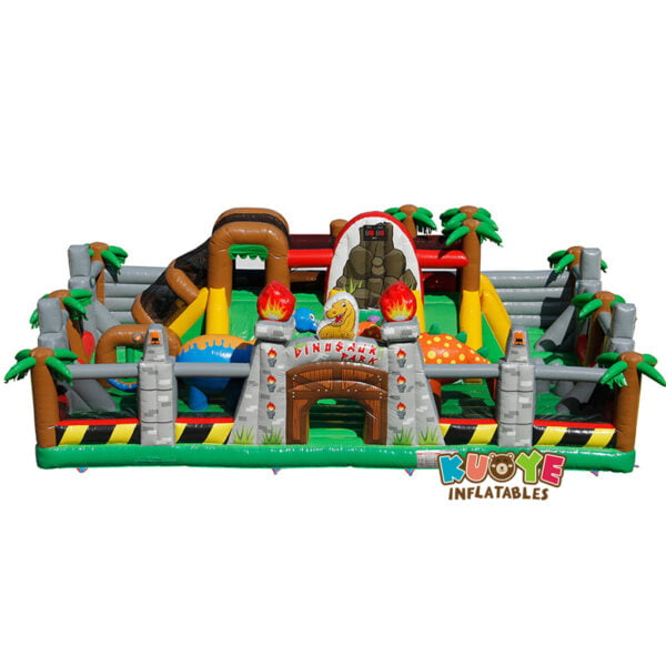 AP005 Dinosaur Park Inflatable Trampoline with IPS System