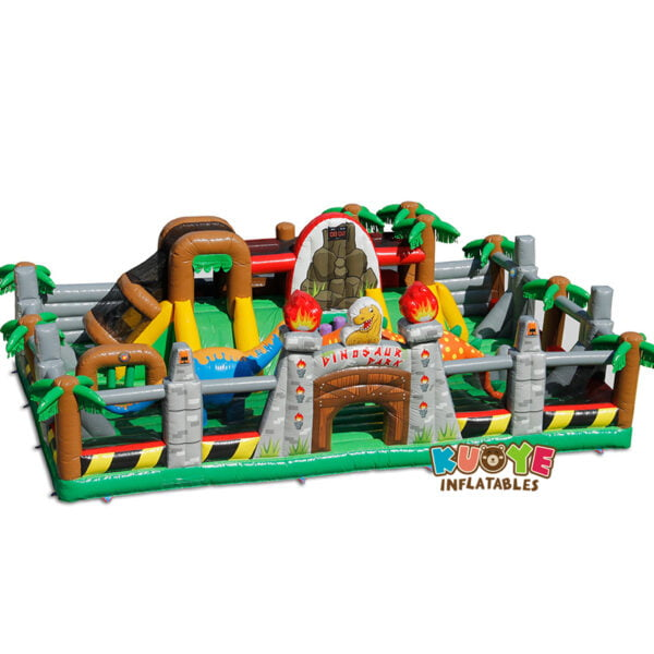 AP005 Dinosaur Park Inflatable Trampoline with IPS System 3