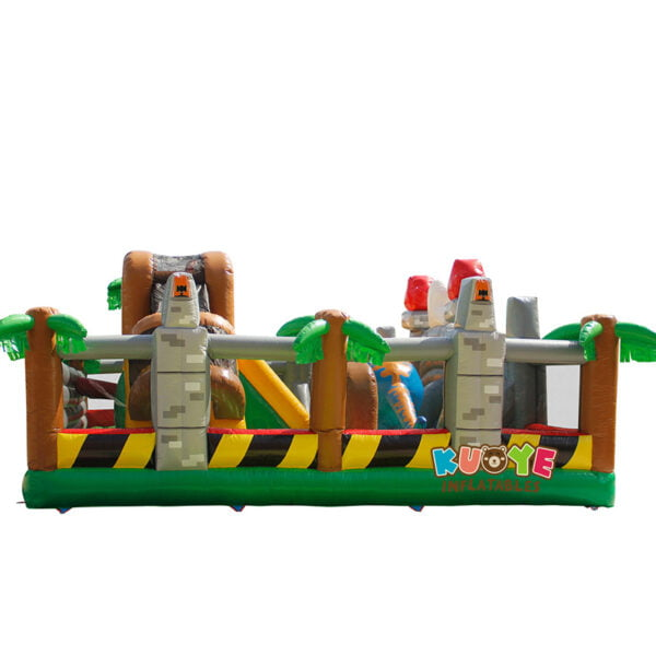 AP005 Dinosaur Park Inflatable Trampoline with IPS System 4