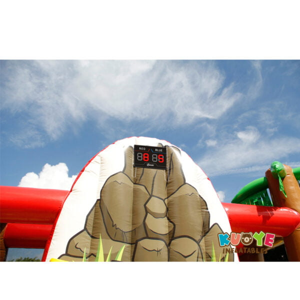 AP005 Dinosaur Park Inflatable Trampoline with IPS System 5