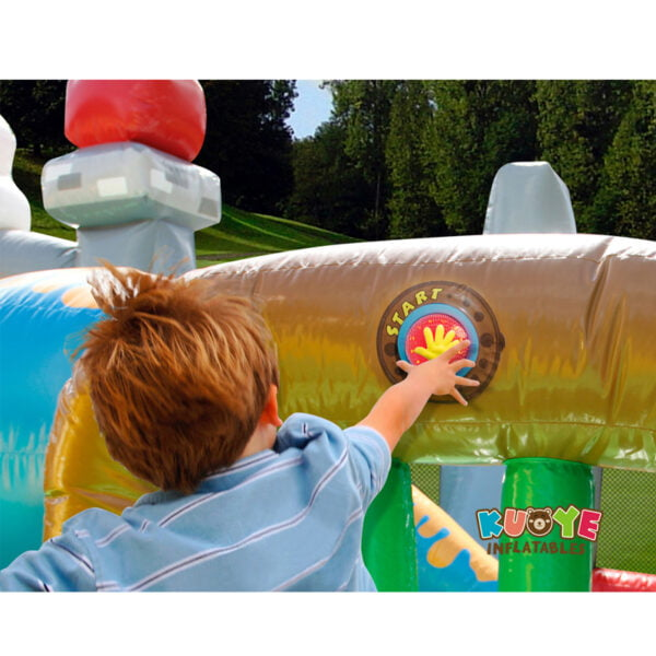 AP005 Dinosaur Park Inflatable Trampoline with IPS System 6