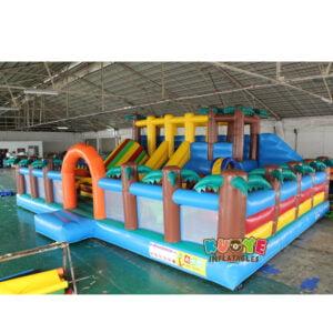 AP002 Jurassic Dinosaur Inflatable Trampoline Playground
