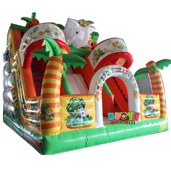 SL003 Inflatable Elephant Slide Playground