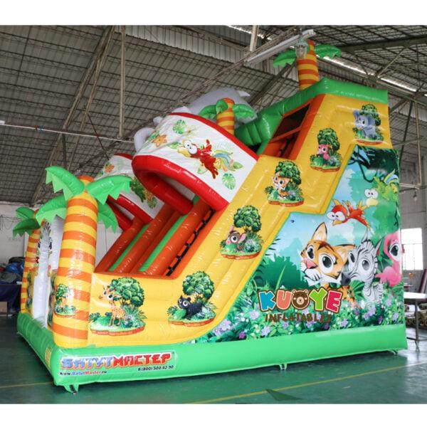 SL003 Inflatable Elephant Slide Playground 3