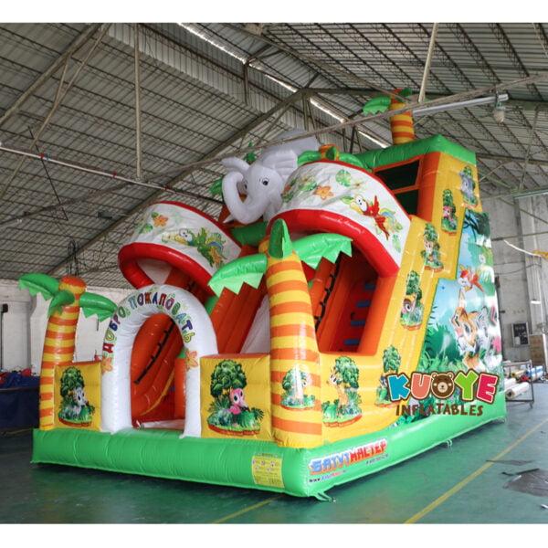 SL003 Inflatable Elephant Slide Playground 5